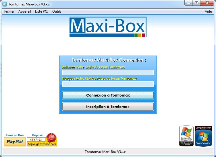GRATUITEMENT BOX TOMTOMAX V3 TÉLÉCHARGER MAXI